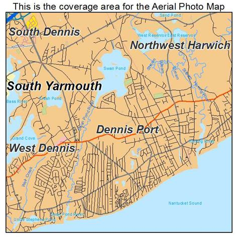 dennis ma aerial photography map of dennis ma massachusetts
