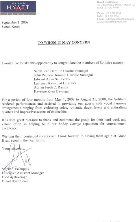 Recommendation Letter Ust About The Members Tenstringedlyre