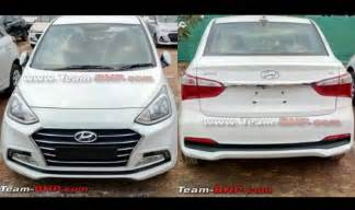 new xcent car 2017 hyundai xcent facelift sans camouflage spied ahead