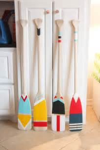 Wooden Boat Decor Easy Diy Painted Oars Pencil Shavings Studiopencil