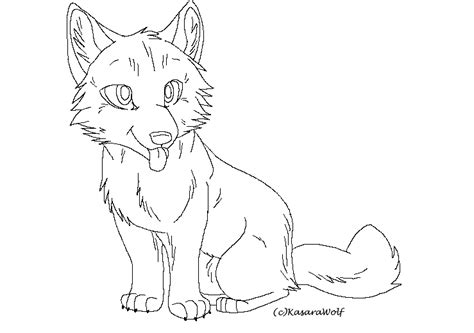 wolf template anime wolf pup outline www imgkid the image kid