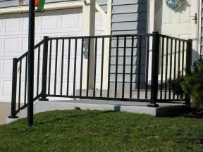 ornamental aluminum iron porch railing by elyria fence