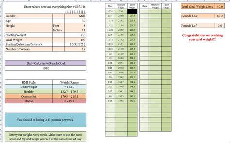 hcg diet tracker spreadsheet elegant weight watchers tracking sheet