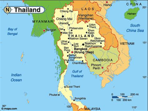 map of thailand country country reviews country