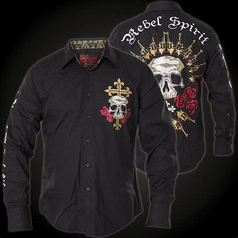 rebel spirit ls shirt lsw141663 button with