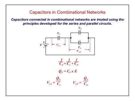 the capacitor network is connected elect principles capacitance