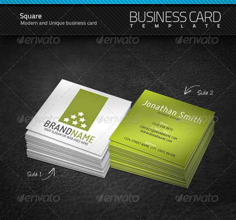 2x2 business card template square business card graphicriver