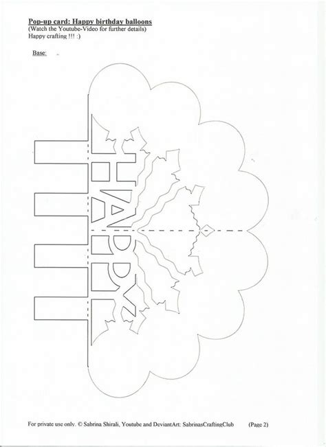 kirigami birthday card template 455 best images about cards pop up on