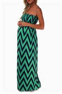mint green navy chevron strapless maxi maternity dress