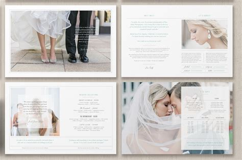Photographer Magazine Layout Brochure Templates Creative Market Wedding Photography Magazine Template
