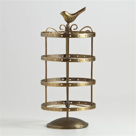 Online Home Decor Shopping by Antique Gold Spinning Bird Earring Holder World Market