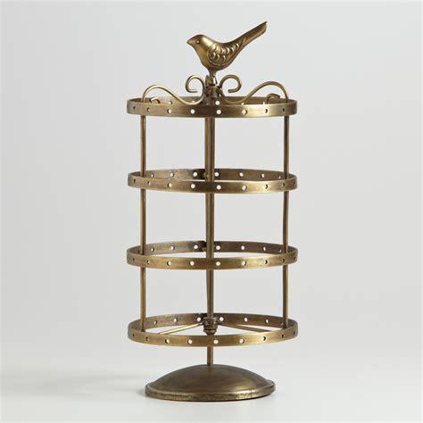 antique gold spinning bird earring holder world market