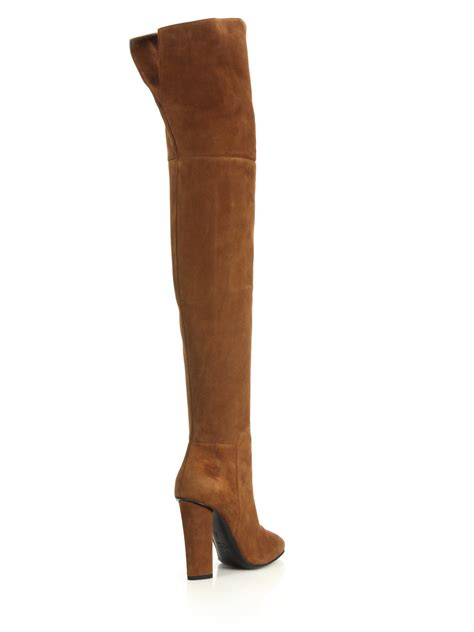 brown suede the knee boots giuseppe zanotti suede the knee split back boots in