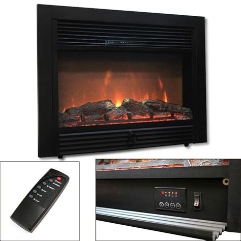 28 5 quot electric fireplace embedded heater insert log flame