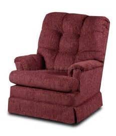 burgundy fabric modern comfortable swivel rocker recliner
