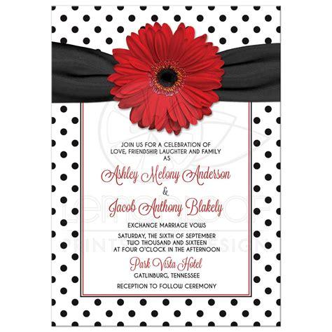 Retro Wedding Invitations by Polka Dot Wedding Invitation Retro Black White