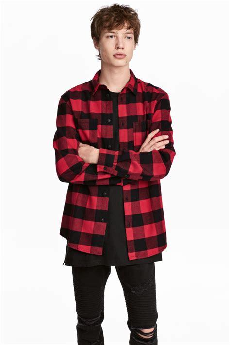 M Plaid Shirt flannel shirt black plaid h m us