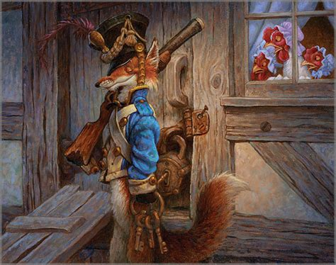 fox in the hen house scott gustafson limited edition prints giclee canvases posters and books