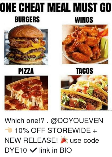 the one meal you must one meal must go burgers wings pizza tacos which one