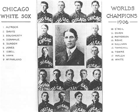 thedeadballera 1906 chicago white sox team photo