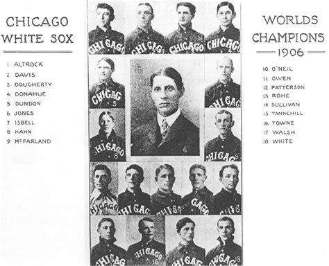 thedeadballera 1906 chicago white sox team photo