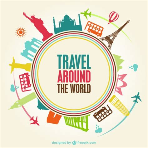 how to travel the world on 10 a day books world travel monuments vector free