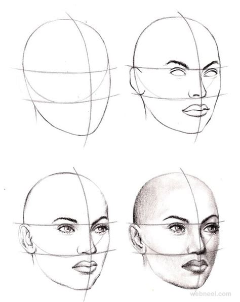 Tutorial C Beginners | how to draw a face 25 step by step drawings and video
