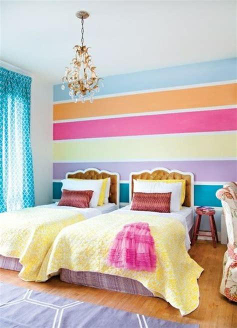 kinderzimmer wandgestaltung farbe kinderzimmer streichen idee design tafel bunt streifen