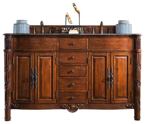 victorian bathroom vanities 60 quot tuscany double granite top vanity cherry victorian