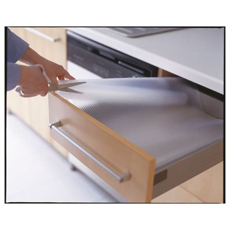 2 ikea non slip plastic cupboard shelf drawer mat kitchen variera drawer mat transparent ikea