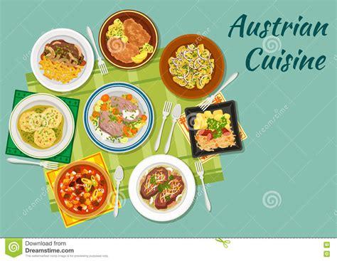 cuisine autrichienne ic 244 ne plate de cuisine autrichienne avec des plats de
