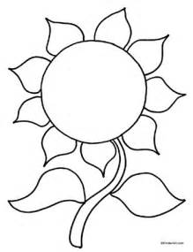 sunflower coloring kinderart