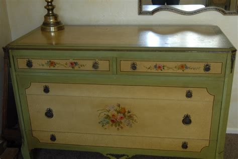 Bedroomfurniture Beautiful Handpainted 4 Dresser Antique Painted Crackle Bedroom Antique Appraisal