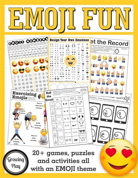 printable emoji games emoji games and puzzles packet emoji birthday parties