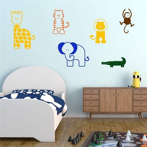 Nursery Animal Wall Decals Jungle Animal Nursery Wall Stickers Tech