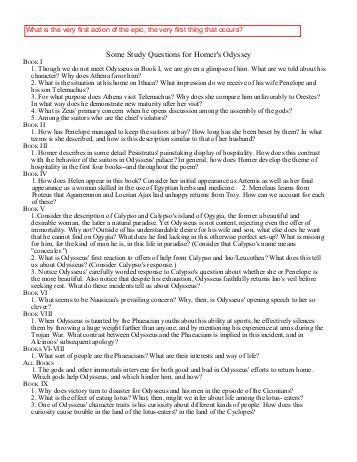 The Odyssey Worksheet Answers by Odyssey Study Guide Block 3 2012 Book 10 How Did