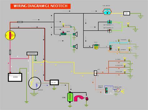 wiring diagram kelistrikan sepeda motor berbagi ilmu