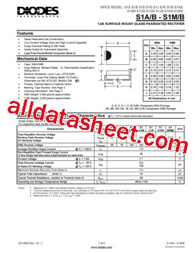 pdf diode in4004 s1m 13 f 데이터시트 pdf diodes incorporated