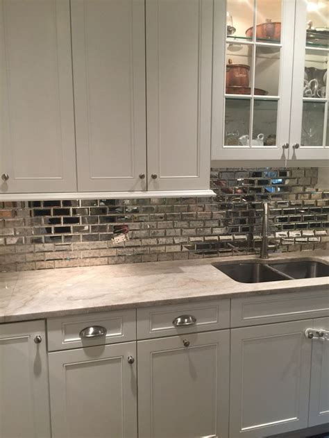 mirror kitchen backsplash best 25 mirrored subway tiles ideas on small
