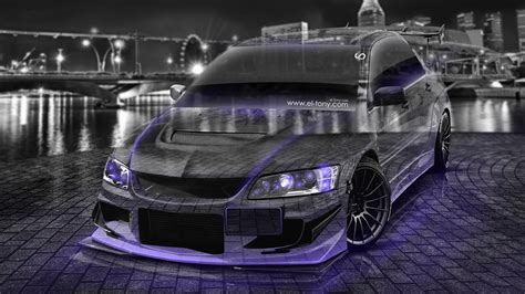 jdm cars 4k mitsubishi lancer evolution jdm tuning crystal city car