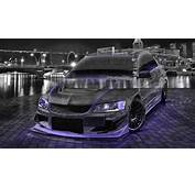 4K Mitsubishi Lancer Evolution JDM Tuning Crystal City Car