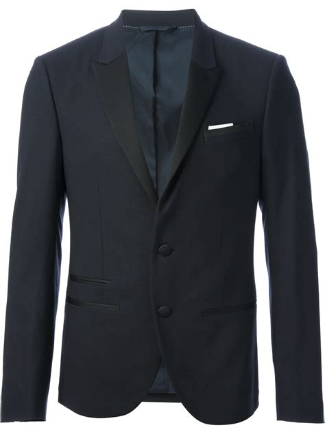 Black Blazer 1 neil barrett classic formal blazer in black for lyst