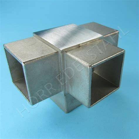 va geländerteile steckfitting eck t verbinder st 252 ck vierkant rohr