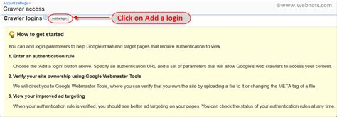 adsense login3 adsense crawler access to password protected pages webnots
