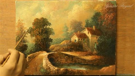 classic paint classic oil painting landscape by yasser fayad ياسر فياض