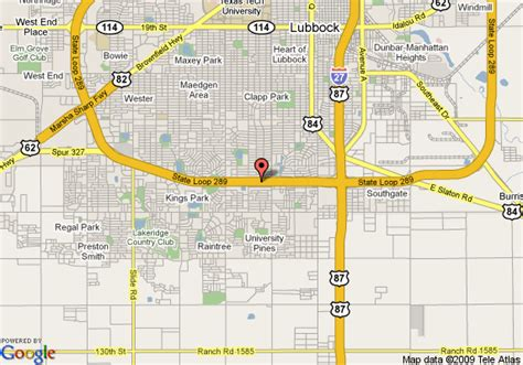 lubbock texas on a map map of residence inn lubbock lubbock