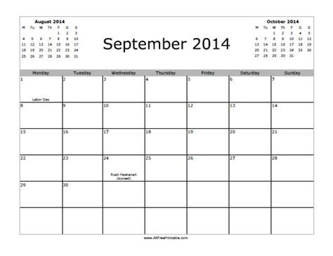 printable monthly planner september 2014 7 best images of free printable calendar september 2014