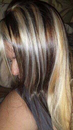 what is hair chunking blonde hair with brown chunks pretty girl pinterest