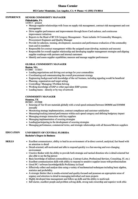 Commodity Manager Sle Resume by Commodity Manager Sle Resume Test Architect Cover Letter Rental Notice Template