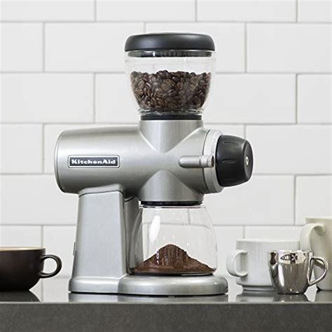 Kitchenaid Burr Coffee Grinder Kitchenaid Kcg0702cu Burr Coffee Grinder Contour Silver